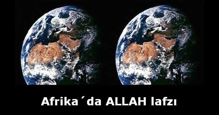 Afrika Allah Yazısı(Uzaydan)